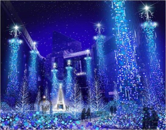 「カノン・ダジュール」11月17日より開催!汐留で青い光のイルミネーションにうっとり