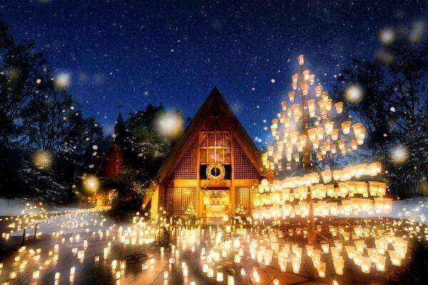 軽井沢高原教会「クリスマスキャンドルナイト」!ランタンの明かりで聖夜を楽しもう