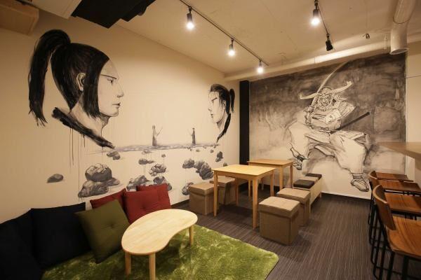 サムライ・ニンジャ × アートがコンセプト!エンターテイメント型のホステルが池袋にオープン