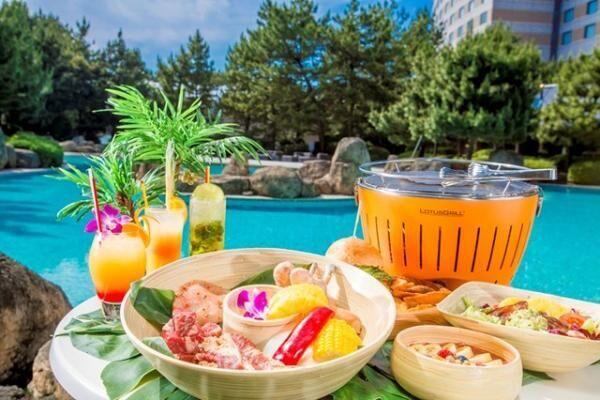 「ハワイアン・ガーデンプール」と「ハワイアン・プールサイド・バーベキュー」で夏を満喫!