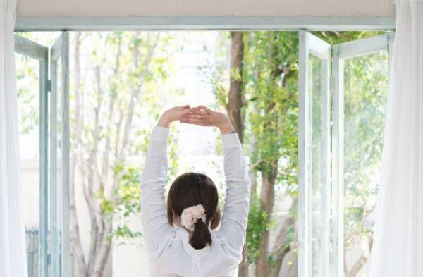 朝ストレッチ☆寒い日でも30秒で代謝アップ!