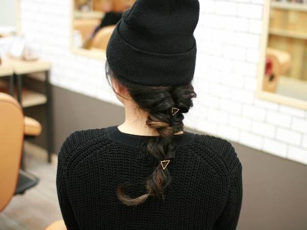 ニット帽に合わせたい!セミロング~ロングさん向けくるりんぱ4連発のヘアアレンジ