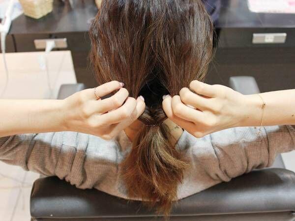 簡単にまとめ髪アレンジ!くるりんぱの逆ver.ぎゃくりんぱで作るシニヨンアップヘア