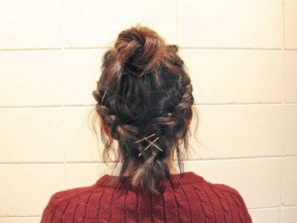【ボブヘアさんでもできるヘアアレンジ】いつもよりアクティブに。お団子編み込みヘア