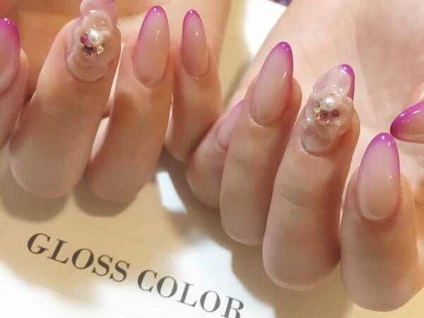 春のピンクネイルには上品な魅力あふれるグラデーションフレンチネイルがおすすめ