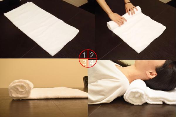 バスタオル枕の作り方
