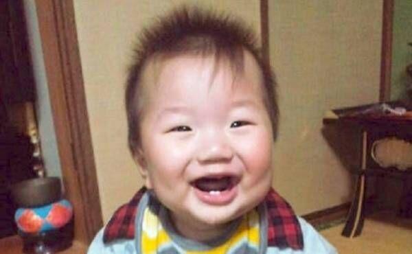 当時生後9カ月の息子