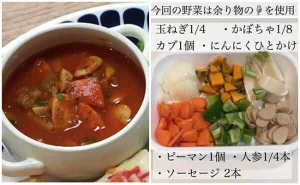 具だくさんトマトスープ