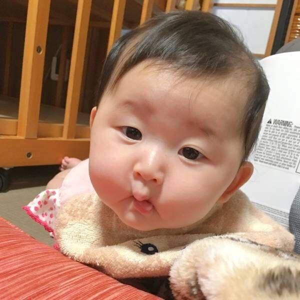 ちょどうした赤ちゃんの衝撃変顔写真が超絶かわいくて