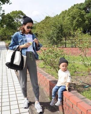 妊娠後期も息子とリンク♪ シンプルでセンス高めなasukaさんに注目
