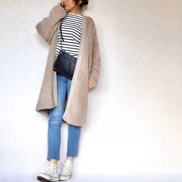 【ユニクロ】売り切れ必至「ボアフリースノーカラーコート」が大HIT♡