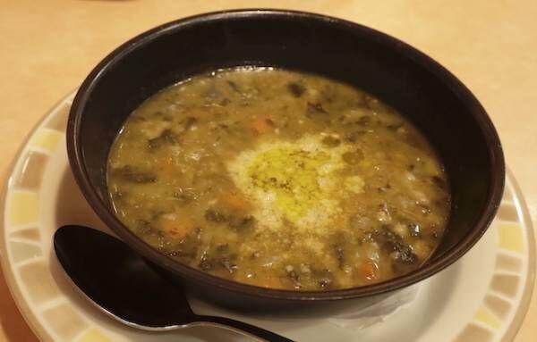 サイゼリヤのレンズ豆とスペルと小麦のミネストローネ