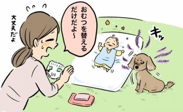 犬が母親気取り? 赤ちゃんにやさしく寄り添う不思議な関係【体験談】