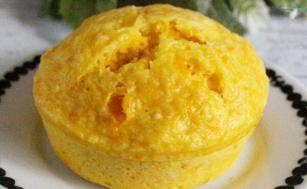 9~11カ月ごろ(離乳食後期)のレシピ「かぼちゃたっぷり♡大きな蒸しパン」