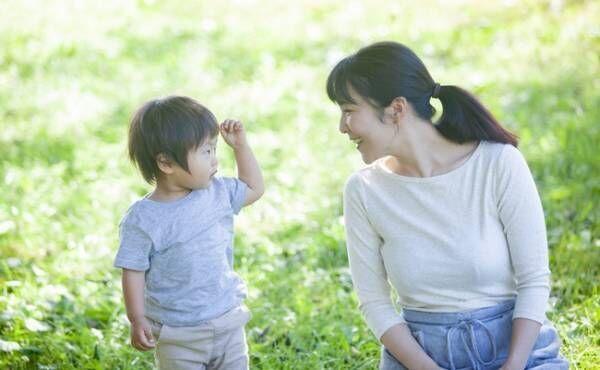 男の子とお母さん