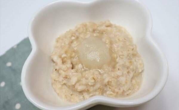 【離乳食後期】オートミールと白身魚の雑炊
