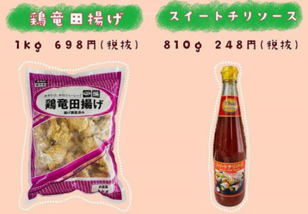 業務スーパー鶏竜田揚げ