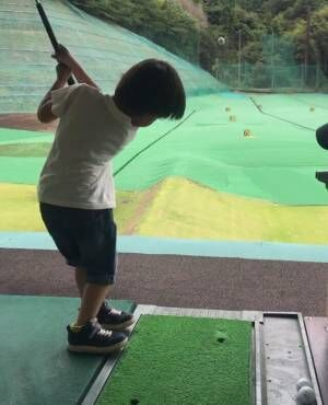 天才ゴルフキッズりひと君1