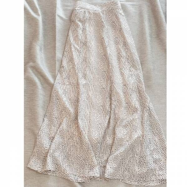 しまむらドット柄スカート