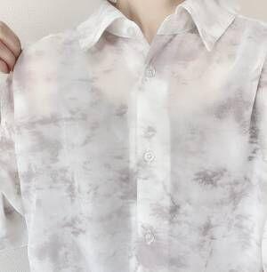 しまむらシアーシャツ透け感
