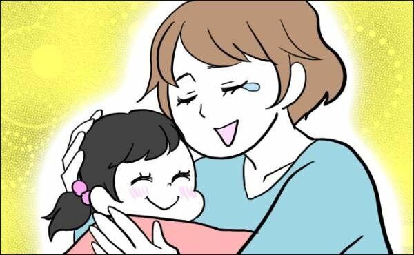 娘の本当の思いを知り涙するママ