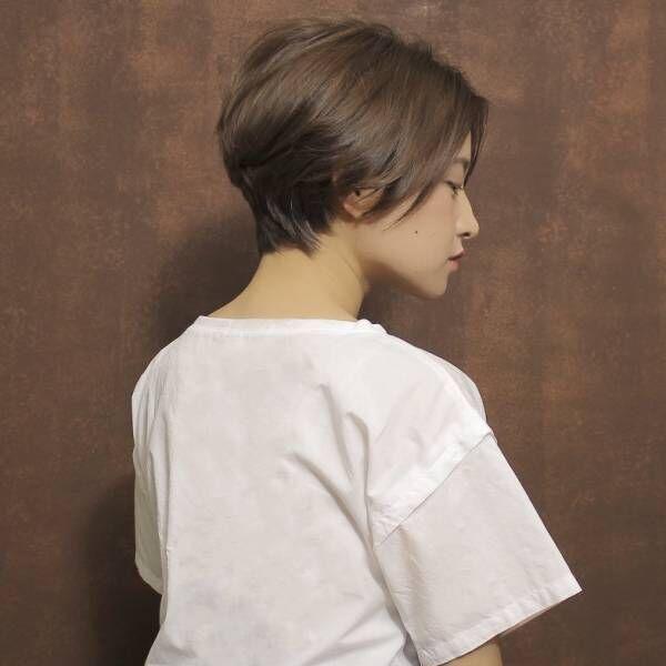 大人女性だから似合う!オトナ女子の横顔美人ショートヘア♥