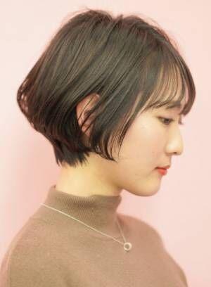 【髪を明るく出来ない方へ】暗い髪色・黒髪のふんわりショートカット特集☆