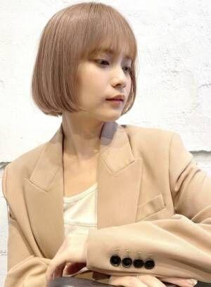 春のイメチェンにオススメ☆ベージュ系透明感カラー☆