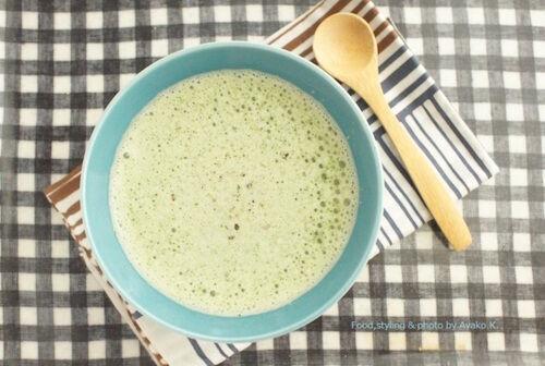 【妊活レシピvol.3】 枝豆・モロヘイヤの甘酒スープ