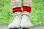 この冬は足元がぽかぽかするウールの靴下を