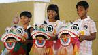 『スラムドッグ$ミリオネア』の子役たち、チャリティ活動で香港訪問