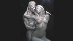 ブランジェリーナがモデルの刺激的な彫像が、オクラホマ州で公開に