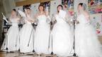 椿鬼奴、はるな愛ら独女5人が華麗な花嫁姿で『クレヨンしんちゃん』アフレコに参加