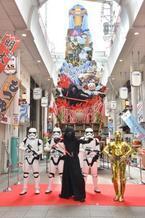 """C-3PO&カイロ・レンも登場!高さ13mの""""スター・ウォーズ山笠""""がお披露目"""