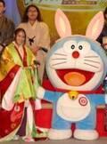 広瀬アリス、十二単で会見! 来年春公開の『映画ドラえもん』にゲスト出演