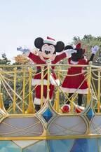 【ディズニー】サンタ衣装のミッキーが最強かわいい!Xmasミニパレードの画像が到着
