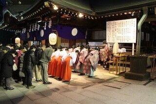 東京都府中市の大國魂神社で、新しい年を迎えるための「大祓式」を開催