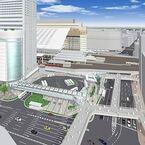JR大阪駅南広場の整備に着手 - バス・タクシー乗車場を分離、安全性向上へ