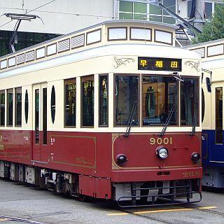 東京都交通局、都電荒川線40周年「都電おもいで号」レトロ車両9001形で運行