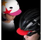 ヘルメットに直接付けるサンバイザー! 通気性そのままで日差し・雨をガード
