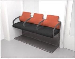 日立、立ち座り動作による身体的負担を軽減する通勤電車向けシートを開発