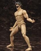 『進撃の巨人』巨人エレンが全裸プラモ化…驚異の可動域&眼球可動ギミック