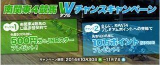 ジャパンネットネット銀行、南関東4競馬Wチャンスキャンペーンを開始