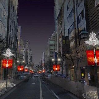 東京都・銀座西並木通りの年末イルミネーションのライティングデザインを一新