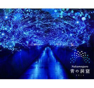 東京都・目黒川でイルミネーション「青の洞窟」 - 約40万球の青い光が灯る