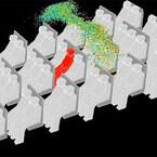 飛行機の中でくしゃみをすると病原体はどう広がる? - ANSYSが解析動画を公開