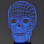 立体的な3Dワイヤーフレームのガイコツが現れるLEDライト