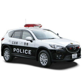 マツダ「CX-5」パトカーに! 広島県警高速隊へ「SKYACTIV-D」搭載4WD車提供