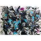 「犬を描きながら人間の本質を照射」 - 曄田依子の個展「犬の系図」開催