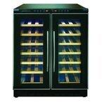 デバイスタイル、個別に温度設定できる2つの保冷室を備えたワインセラー